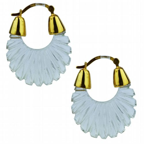 Ettienne - Glass Hoop Earrings - Crystal